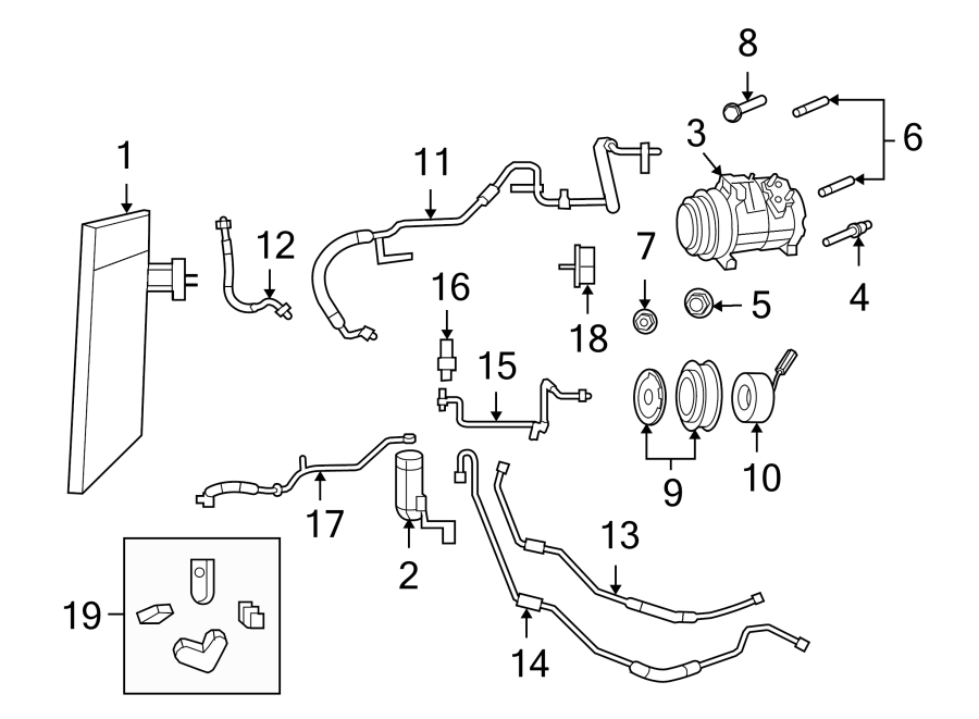 2009 Volkswagen Routan Coolantpipe  Discharge Hose  3 8