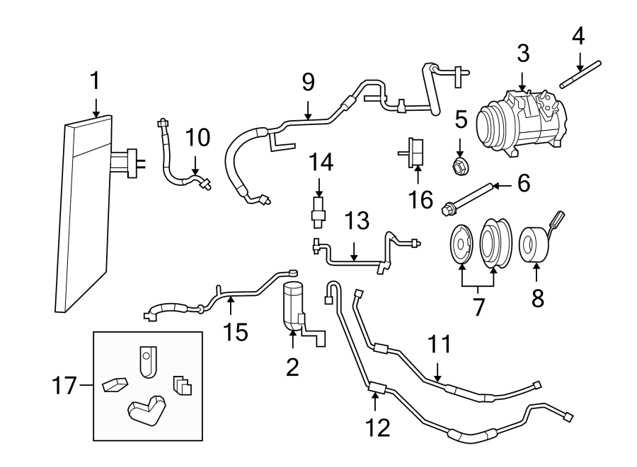 2010 volkswagen routan a c compressor bolt liter air. Black Bedroom Furniture Sets. Home Design Ideas