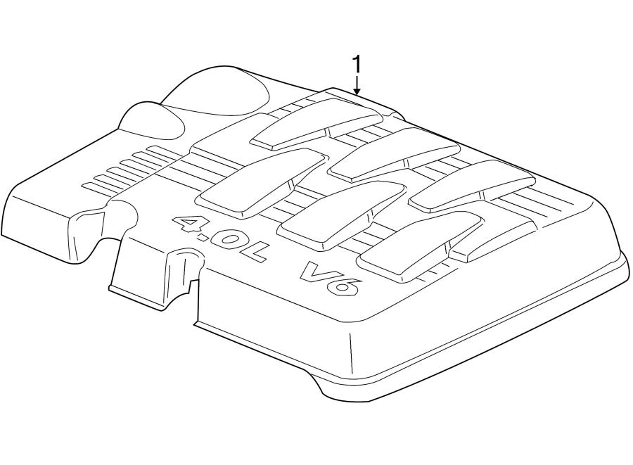 2009 volkswagen routan engine cover liter group. Black Bedroom Furniture Sets. Home Design Ideas