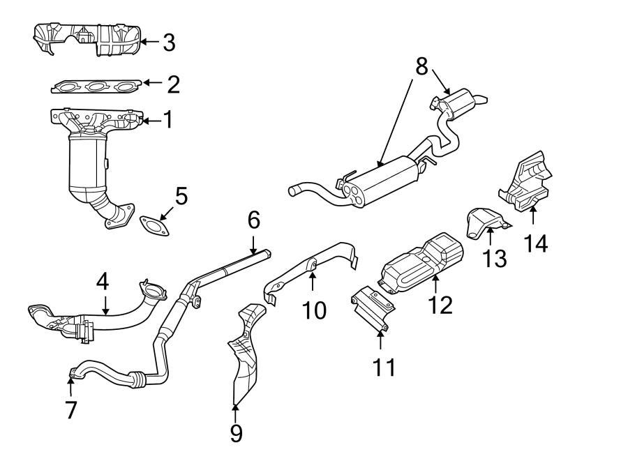 2009 Volkswagen Routan Exhaust Manifold  4 0 Liter