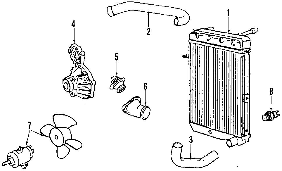 1999 volkswagen jetta fan  cooling  electr  engine motor
