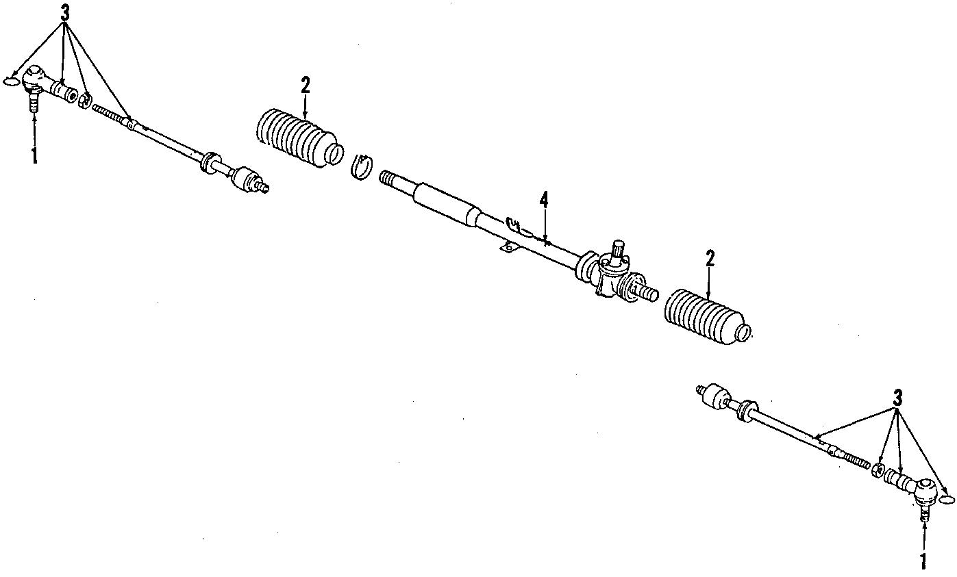 1987 volkswagen vanagon rack and pinion bellows  manual steering  vanagon