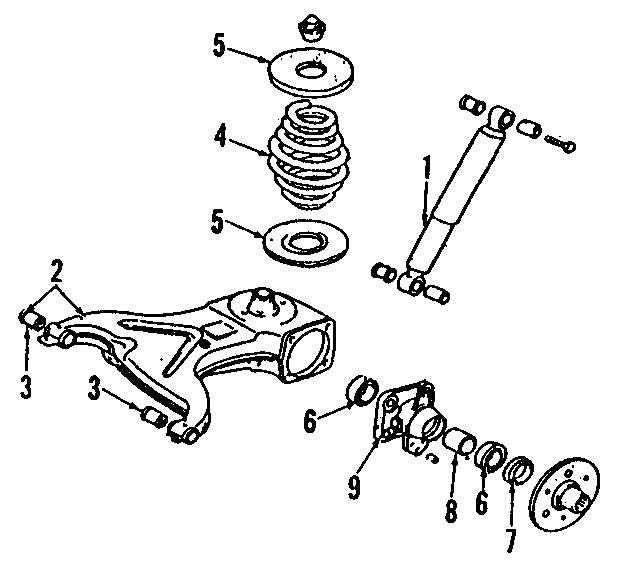 1991 volkswagen vanagon suspension control arm bushing  front  rear  upper  lower   eurovan