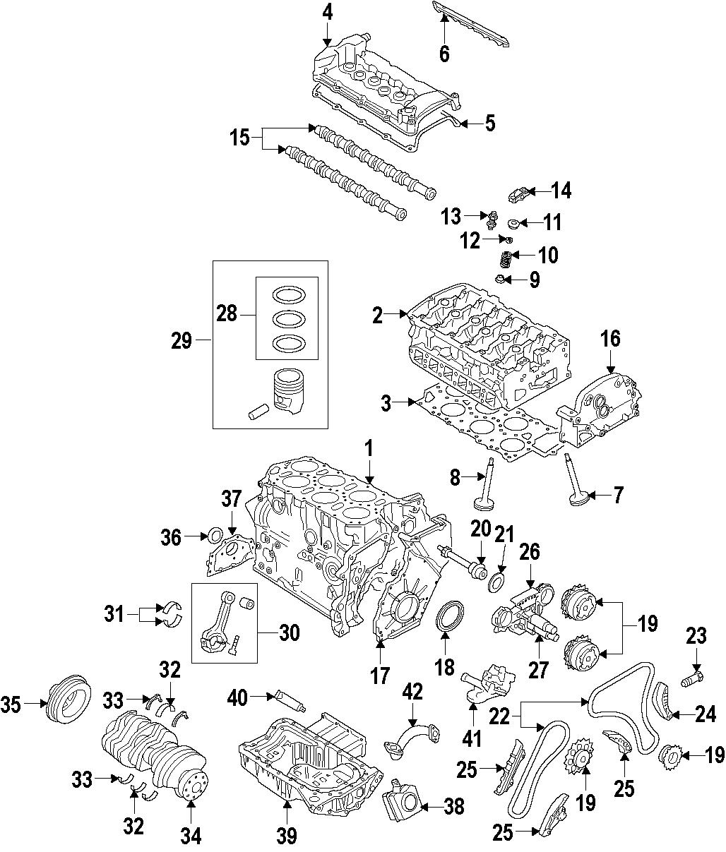 2008 Volkswagen R32 Engine Timing Cover  Front  Upper   3