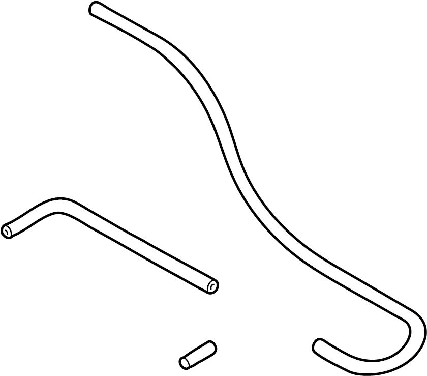 2016 volkswagen cc headlight washer hose  headlight washer