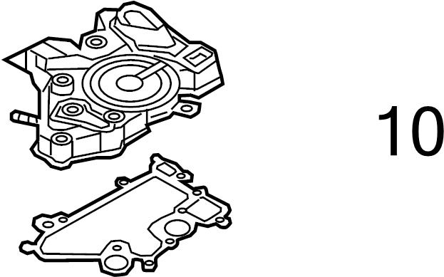 2014 volkswagen beetle convertible center cover gasket  engine crankcase vent valve seal