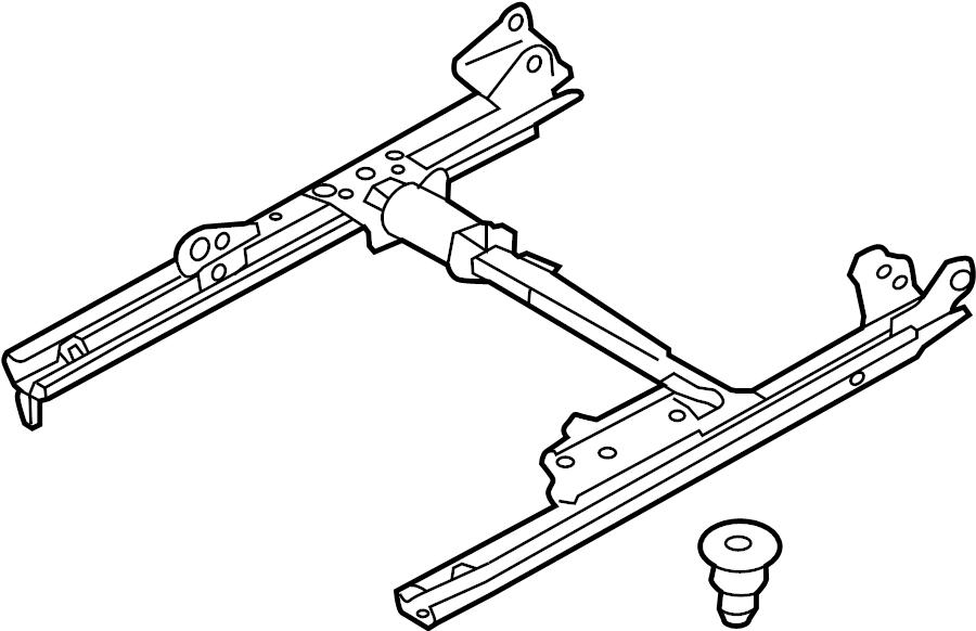 2012 volkswagen touareg channel  seat adjuster  seat track