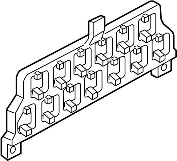 2004 volkswagen beetle convertible relay  fuse  bracket  mount  plate