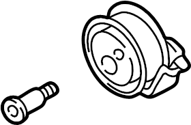 Pulley Tensioner Bar : Volkswagen beetle engine timing belt tensioner pulley