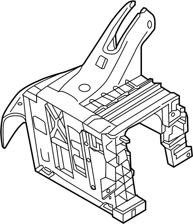 2017 volkswagen bracket  mount  module  control  compartment  passenger  amp