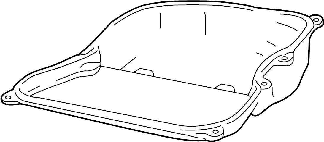 2007 volkswagen passat automatic transmission oil pan  oil sump  transmission pan  3 6 liter  3