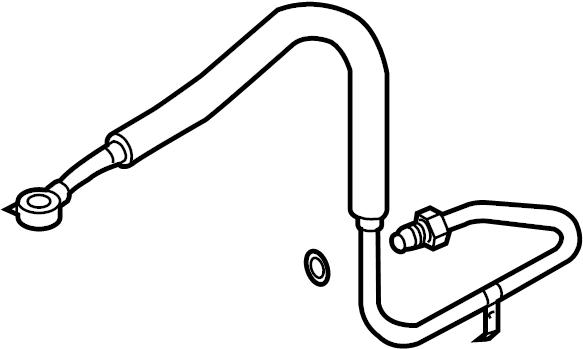 2007 volkswagen touareg flexible  hose  power steering