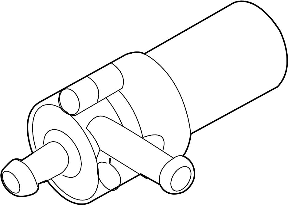 2004 volkswagen touareg engine auxiliary water pump  liter  lower  vin