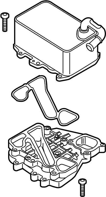 2013 volkswagen touareg engine oil cooler