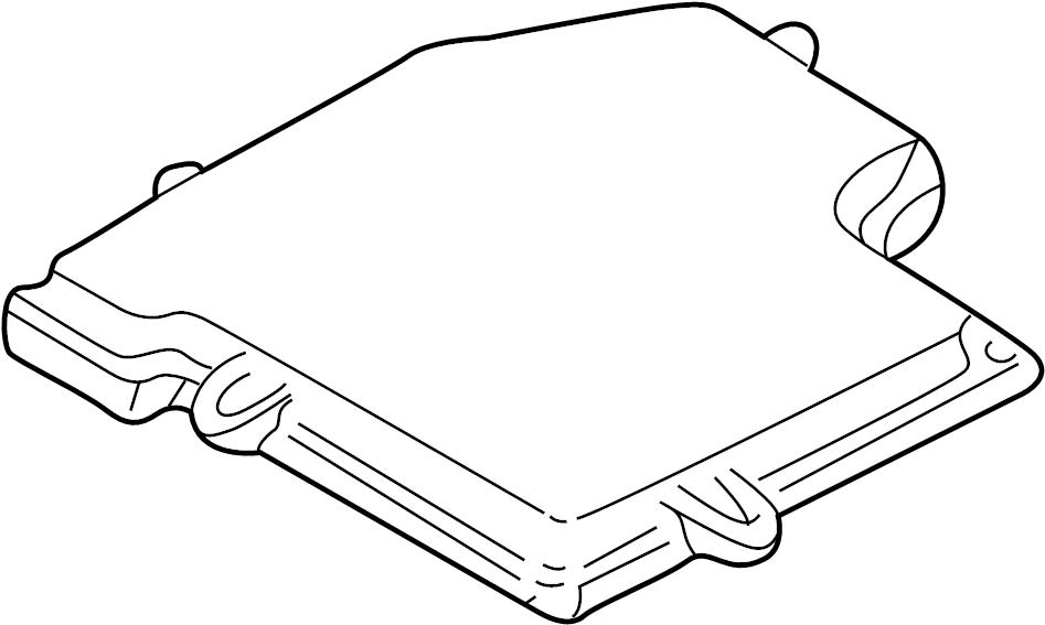 2003 volkswagen passat cover  ecm  engine control module  fuse box  under  upper
