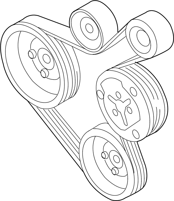 2003 volkswagen beetle ribbedbelt  serpentine belt  1 8