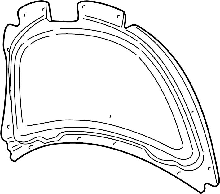 2003 volkswagen beetle hood insulation pad  trim  exterior