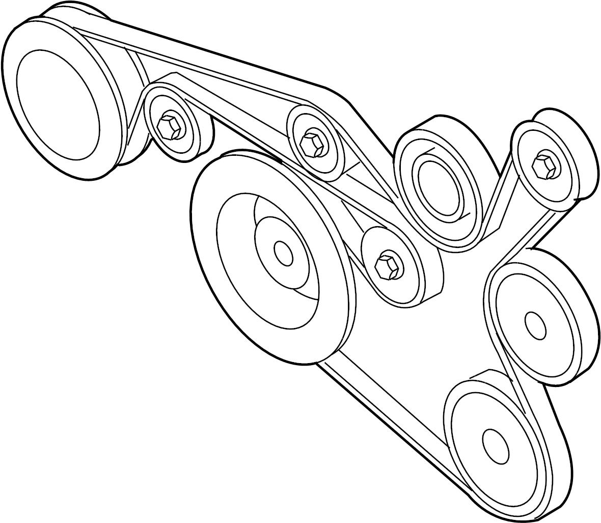 2013 Volkswagen Jetta Accessory Drive Belt  Serpentine