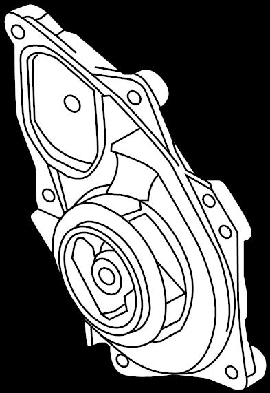 2013 volkswagen jetta gli engine water pump  water pump