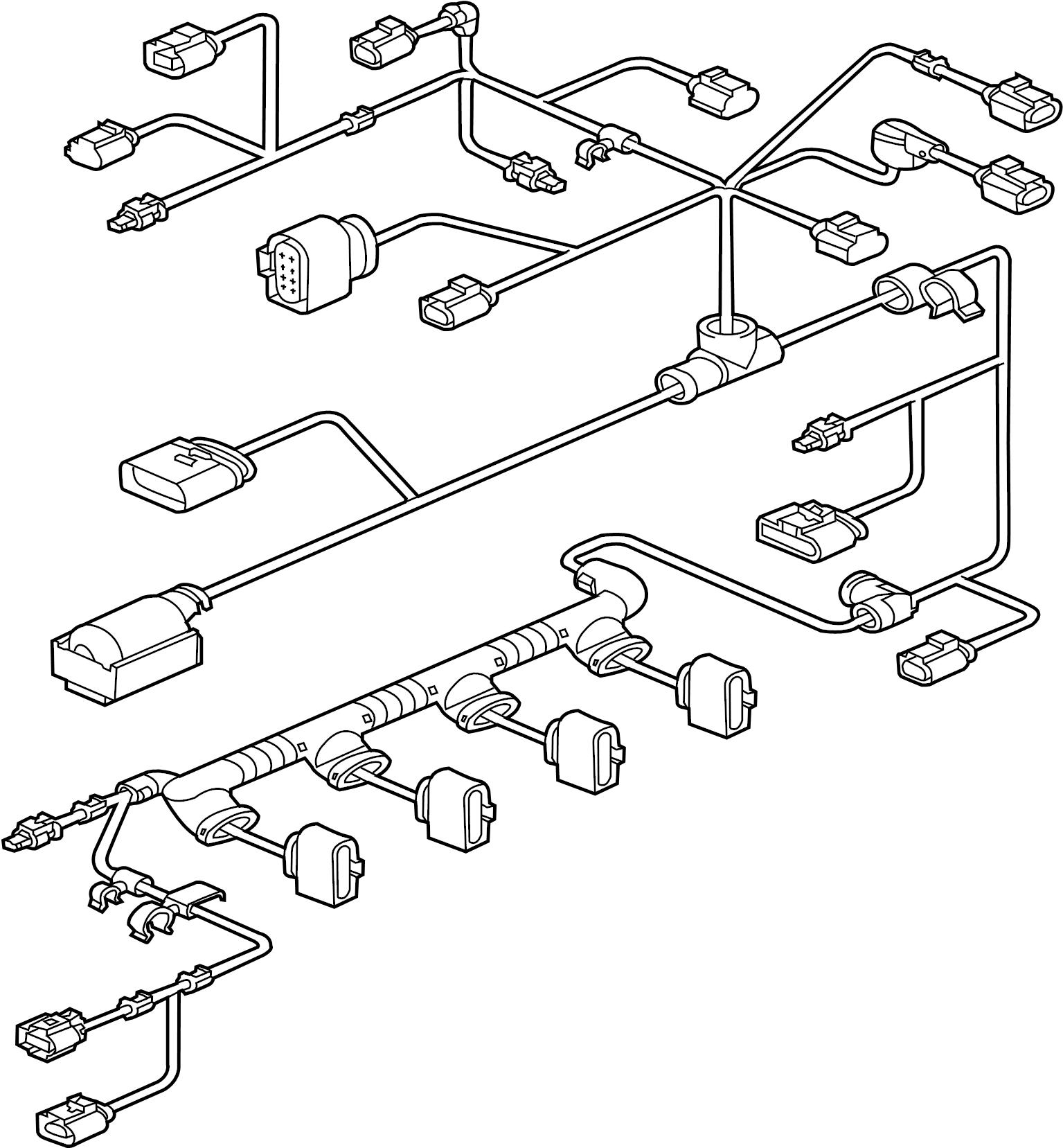 2013 volkswagen jetta gli engine wiring harness  vin