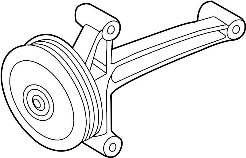 2013 volkswagen jetta gli accessory drive belt idler