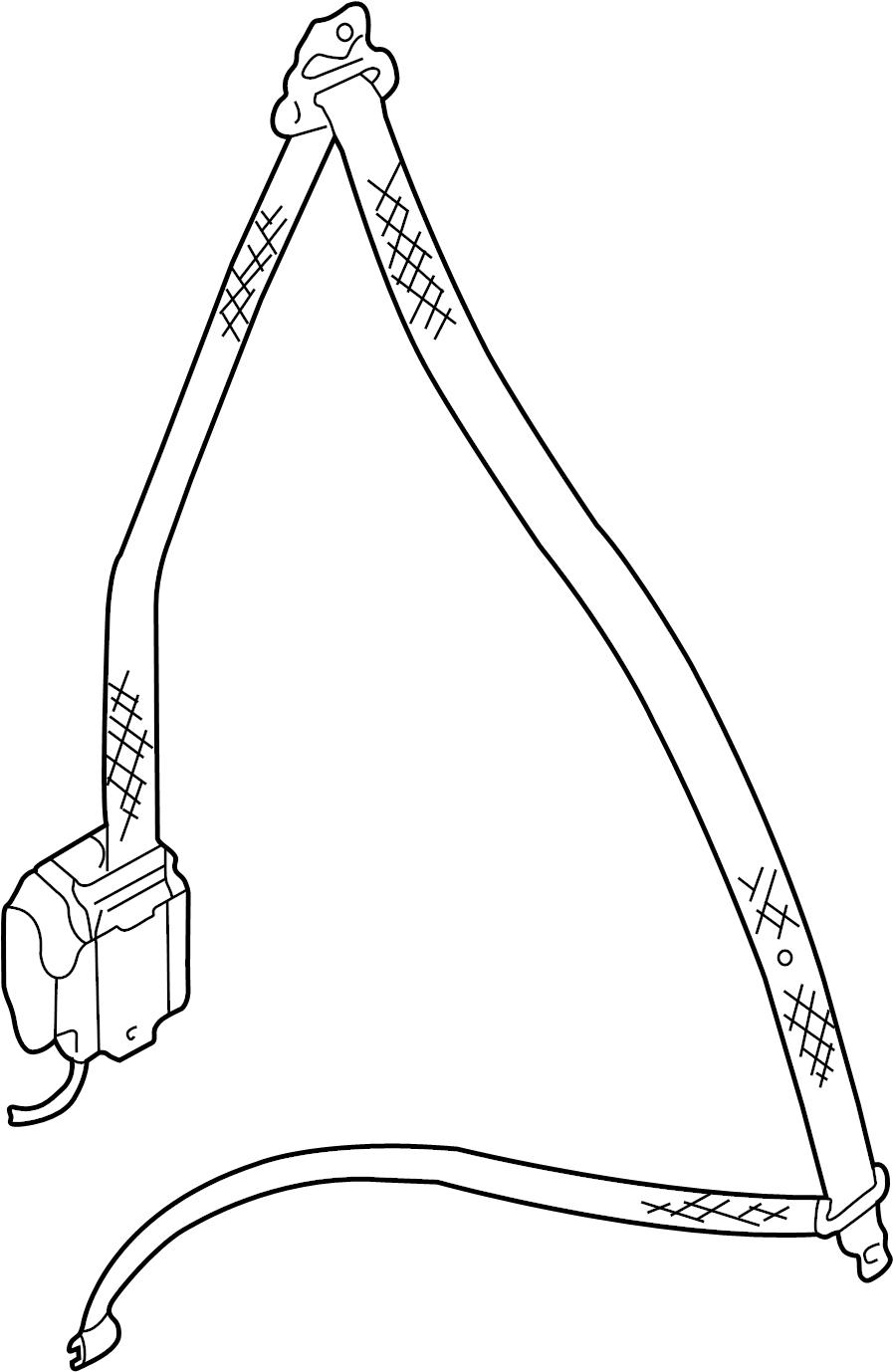 2002 volkswagen cabrio seat belt shoulder belt  front