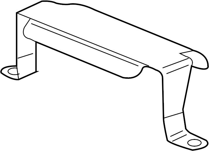 2010 volkswagen touareg engine control module bracket  liter  ecm  holder