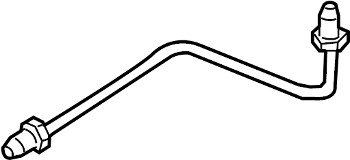 2012 volkswagen touareg brake hydraulic line  brake tube