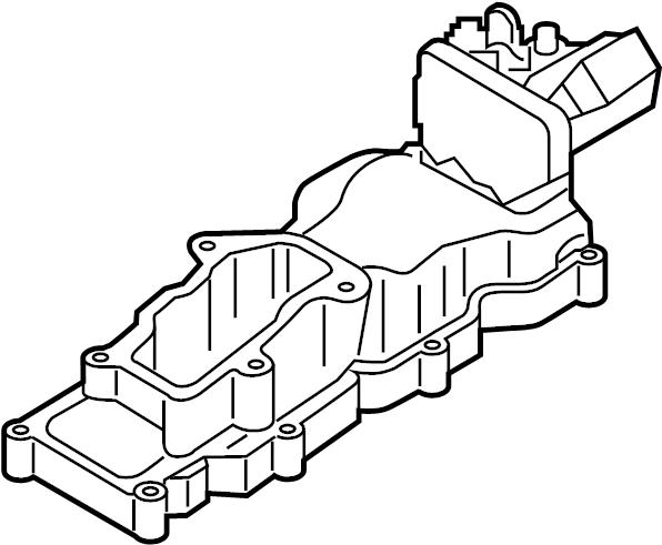 2011 volkswagen touareg intake manifold  manifold  2011
