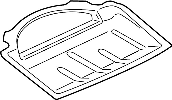 2012 volkswagen touareg shelf  spare tire panel  rear