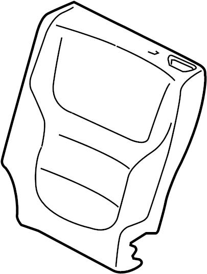 2016 volkswagen touareg padding  seat back pad  seat back