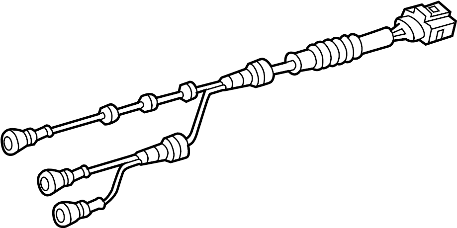 2017 volkswagen touareg abs sensor wire  harness