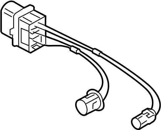 2014 volkswagen tiguan harness  wire  wiring  w  o
