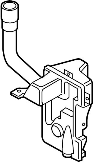 2012 volkswagen tiguan washer fluid reservoir  wiper