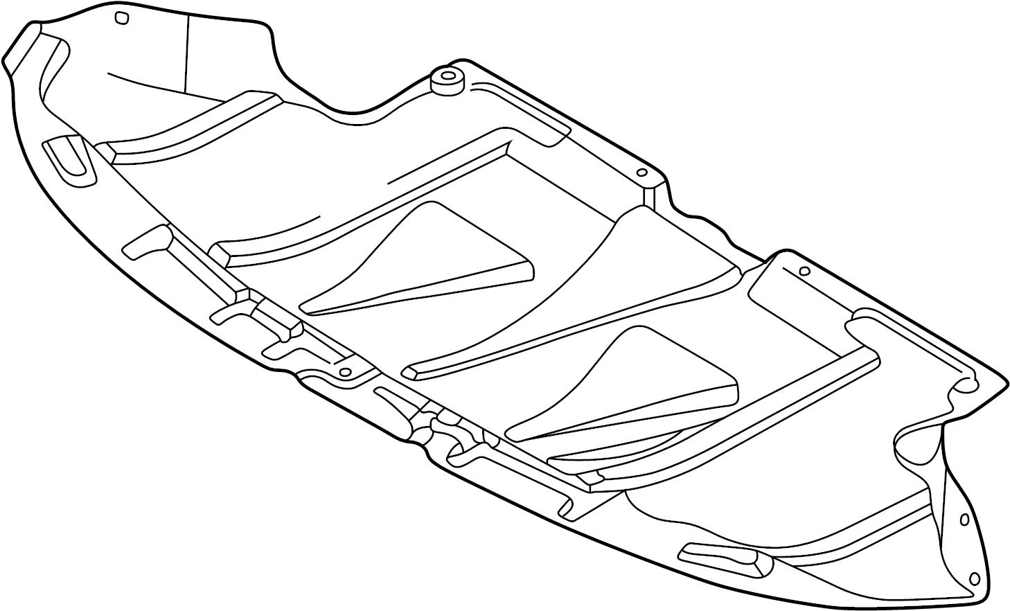 2002 volkswagen passat wagon radiator support splash shield  front  lower   2 8 liter  new style