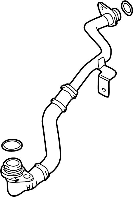2003 volkswagen passat wagon engine oil cooler line  pipe  return line  4 0 liter  4 0 liter