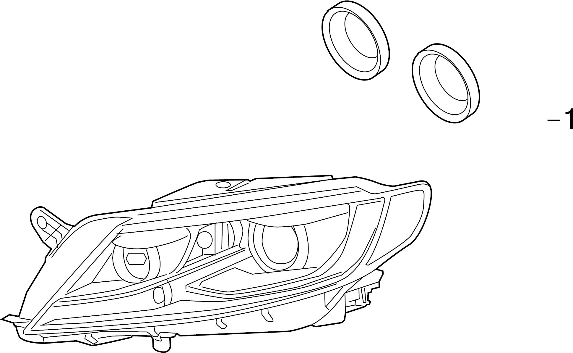 2016 volkswagen cc headlight bulb cap  front  rear  lower   lights  running  led