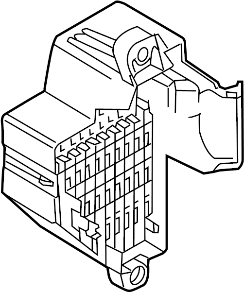 2008 Volkswagen Jetta Gli Holder  Fuse  Relay  Amp  Engine