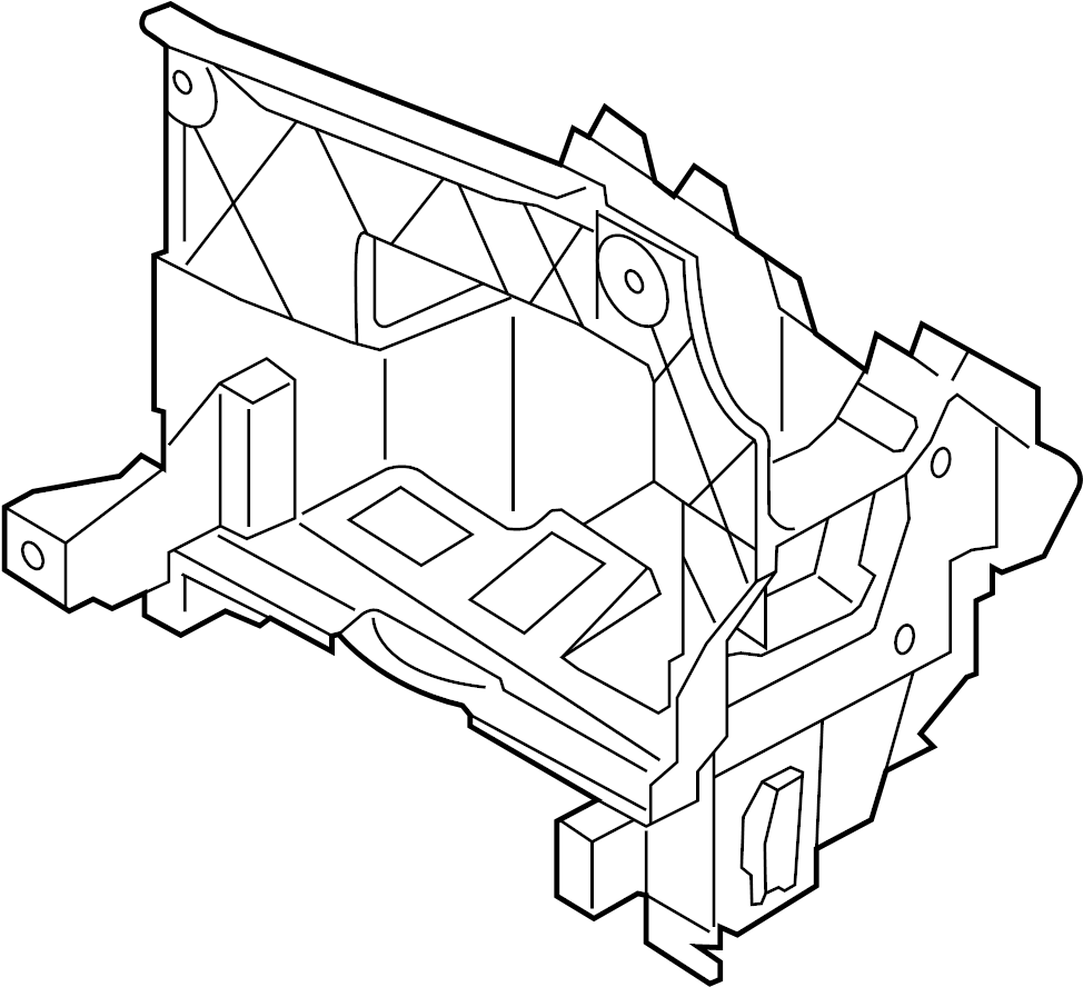 2015 volkswagen eos bracket  control module bracket  mount