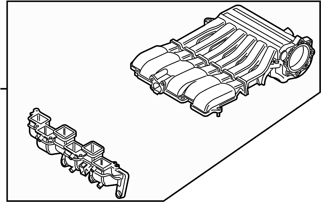 2012 volkswagen passat intake manifold  liter  engine
