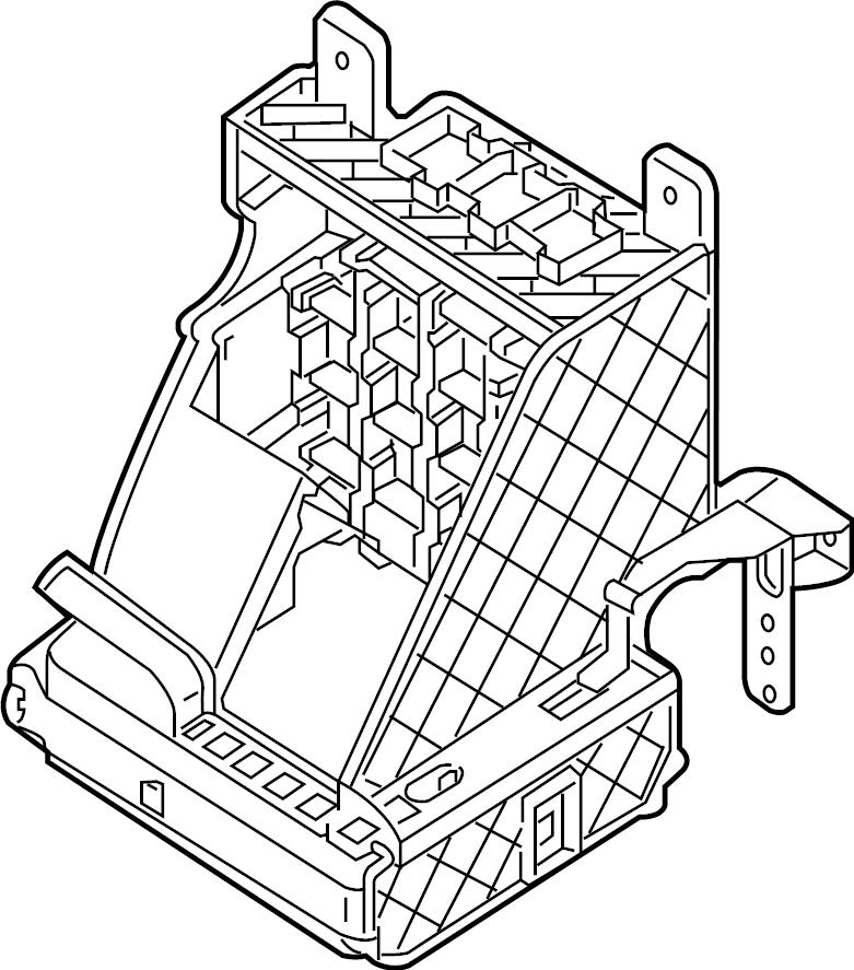 2017 Volkswagen Passat Fuse Box Bracket  Lower   Passenger Compartment  2016