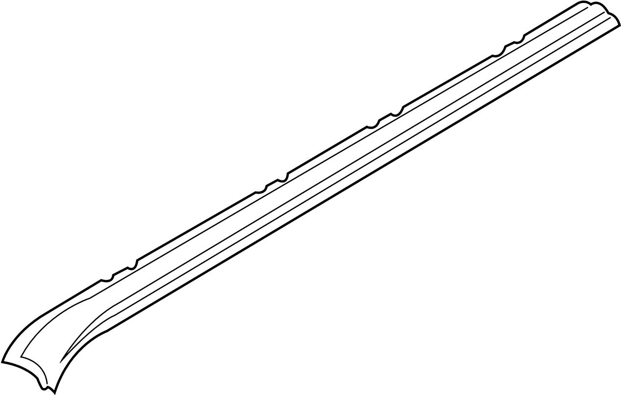 2003 volkswagen eurovan roof frame  side rail  van  3320mm wheelbase  left  body