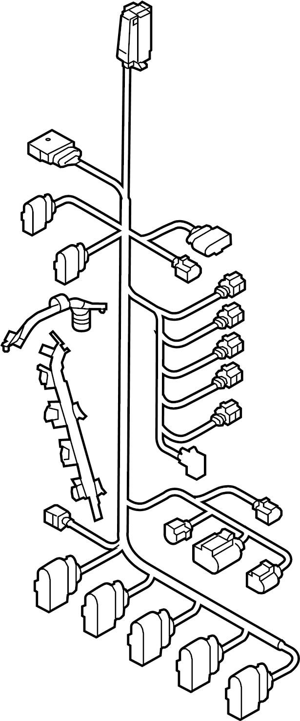 2008 Volkswagen Jetta Engine Wiring Harness  2 5 Liter  2 5 Liter  W  O Sulev