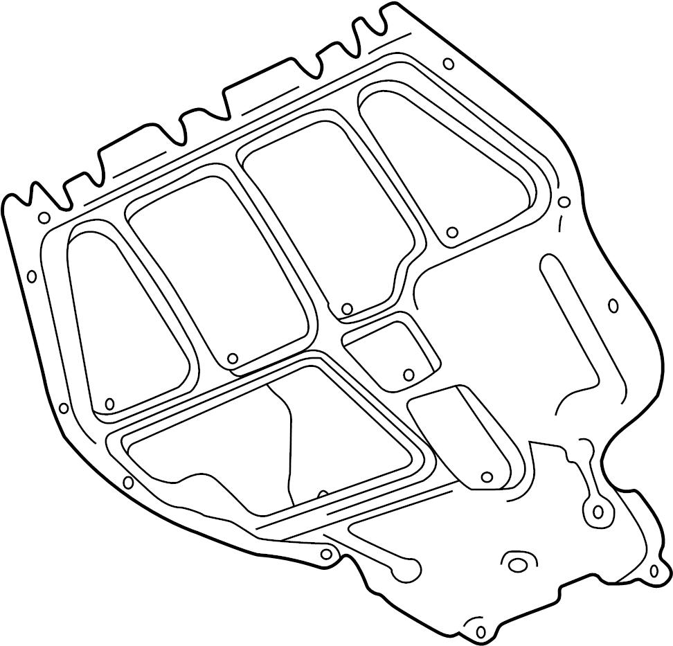 2002 volkswagen jetta radiator support splash shield