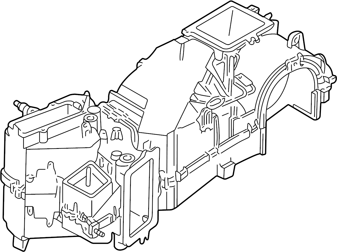 1999 volkswagen cabrio evaporator evaporator core includes housing assy 1h1820103c. Black Bedroom Furniture Sets. Home Design Ideas