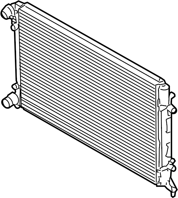 2009 volkswagen rabbit radiator