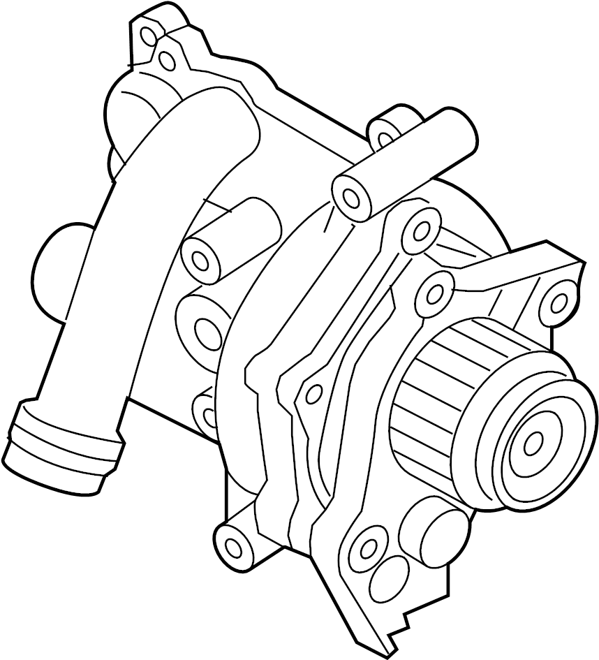 2009 volkswagen tiguan engine water pump assembly  water