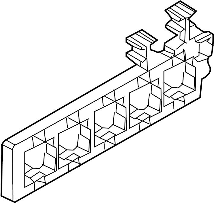 2011 volkswagen sportwagen relay box  passenger  compartment  upper