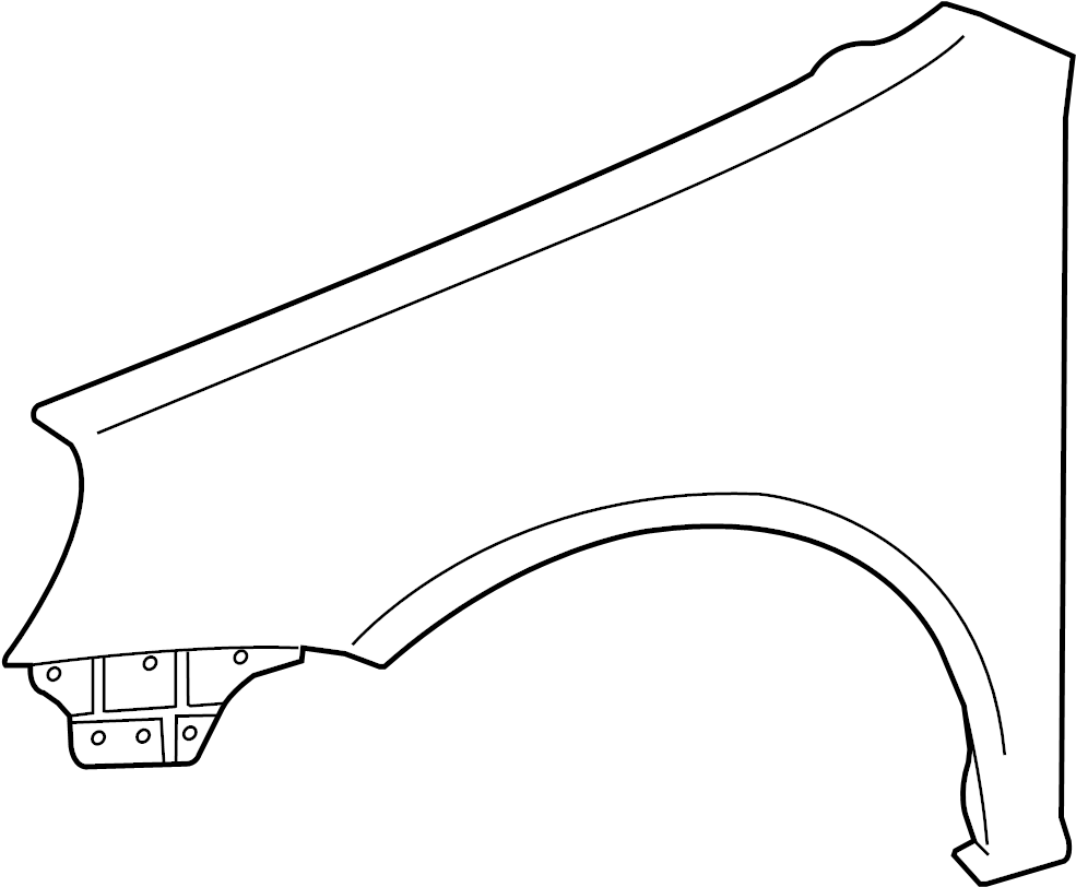 2008 volkswagen rabbit fender  front right  components