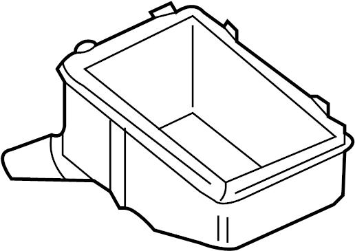 2009 Volkswagen Jetta Box  Grommet  Relay  Bracket